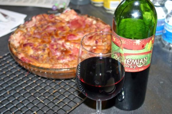 Plum Claufatti and Wine