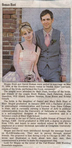 Megan and Dave's Wedding Announcement
