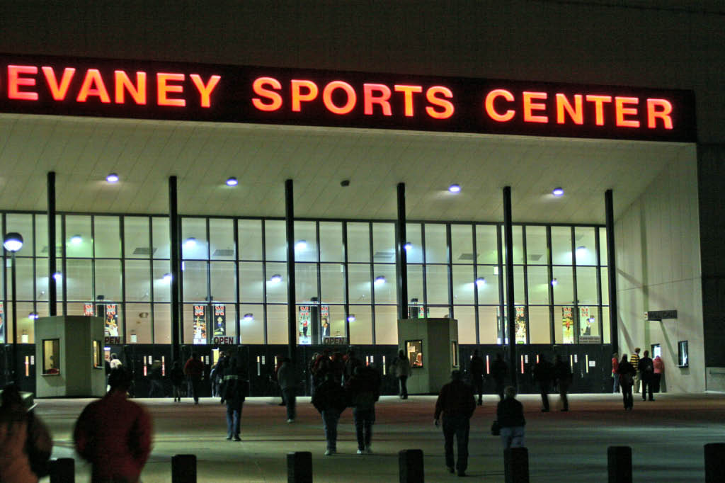 Devaney Sports Center in Lincoln....Men's College Basketball game.