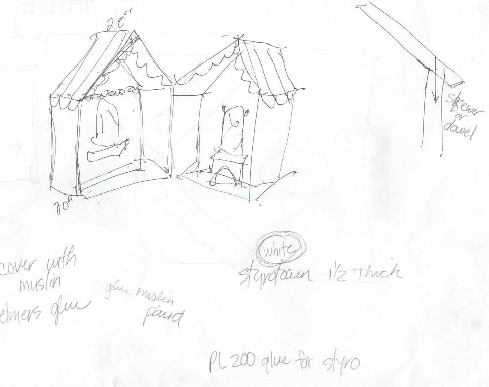 Joe Anderson's original playhouse design.