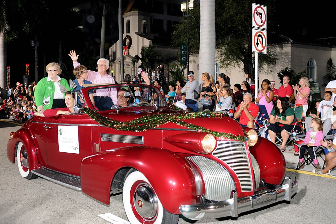 Grandma Florida, Harrison and The City Councilman at the Boca Raton Christmas Parade!