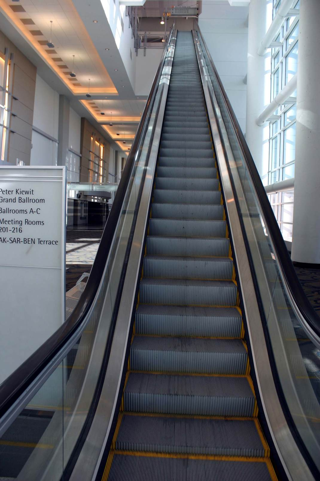 The UP Escalator at the Qwest Center in Omaha.