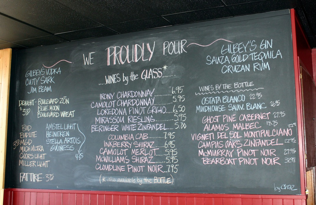 Love me a restaurant with a  Chalkboard!
