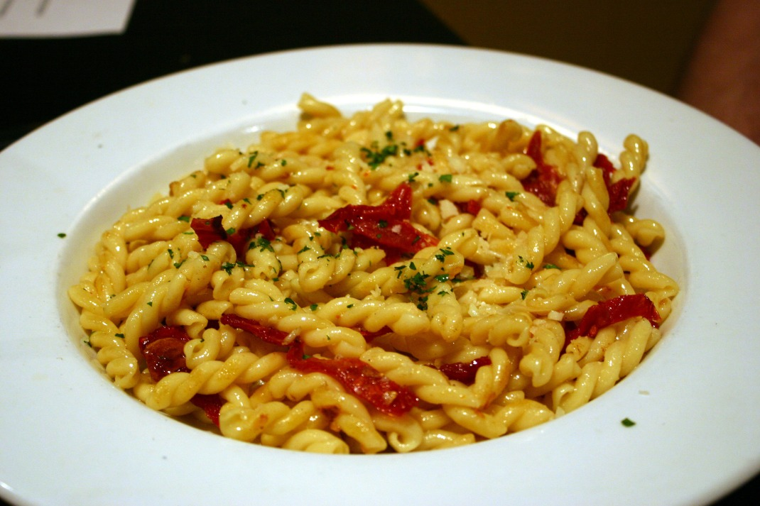 Dan had a Pasta Dish. They offered him a selection of pastas to choose from. He liked this Naked Pasta entree.