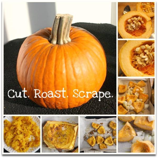 Cut roast Scrape
