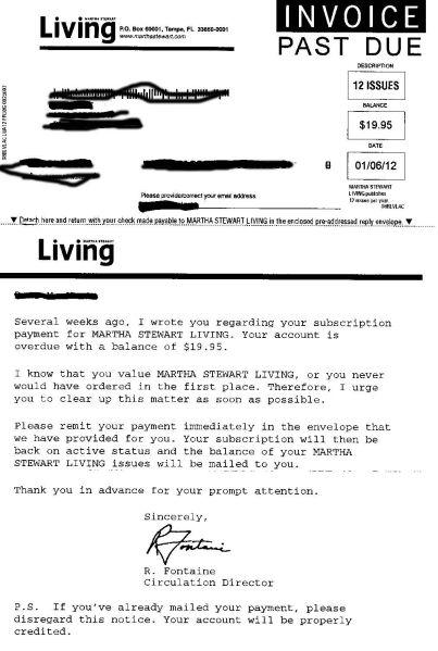 Martha Stewart Letter