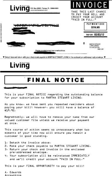 Martha Stewart letter 2