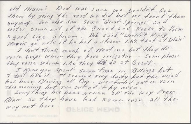 June 8, 1955 letter back