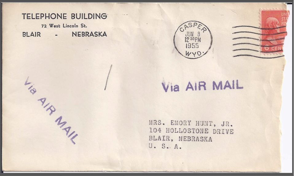 June 1955 envelope