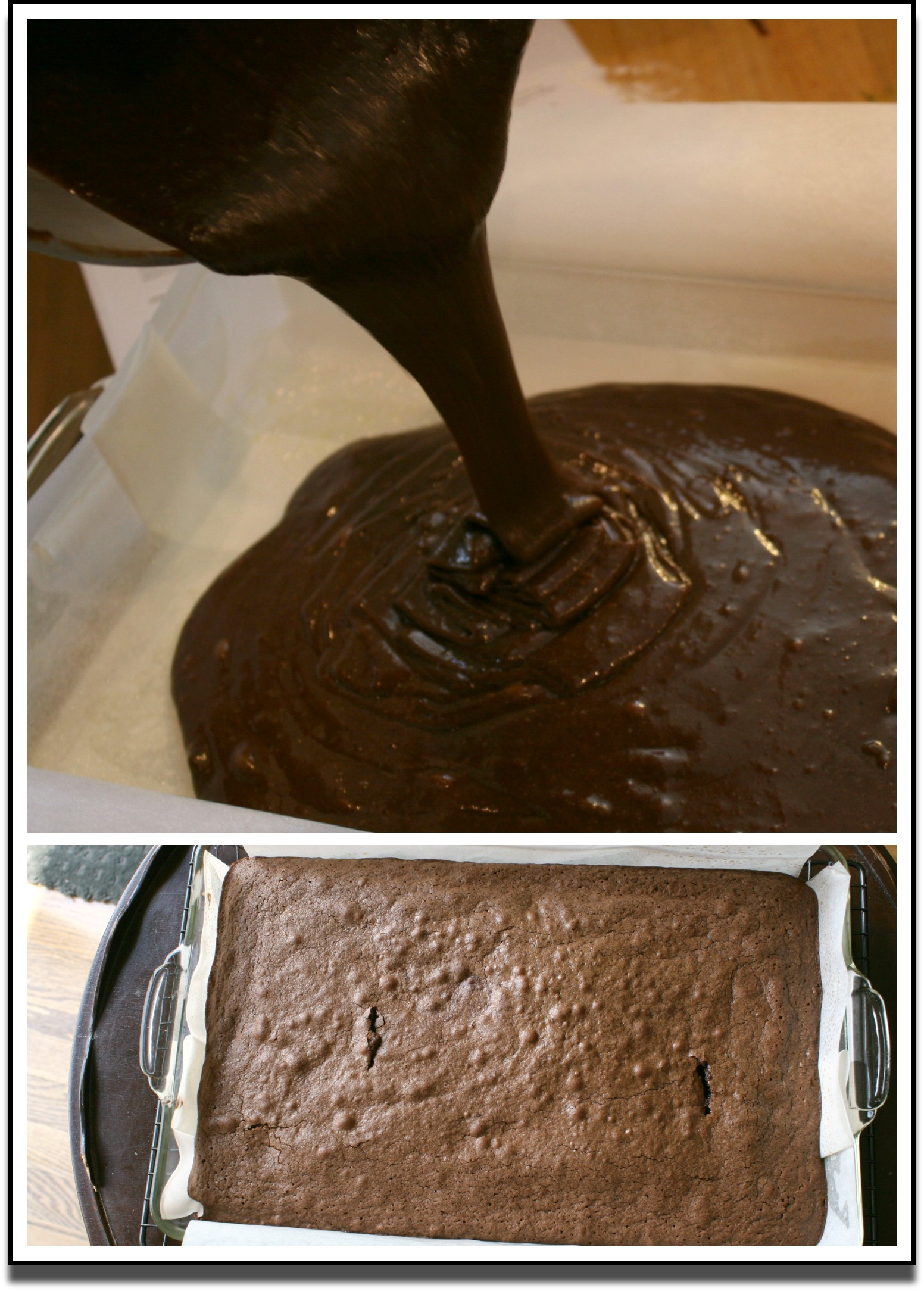 Brownie Batter Pour