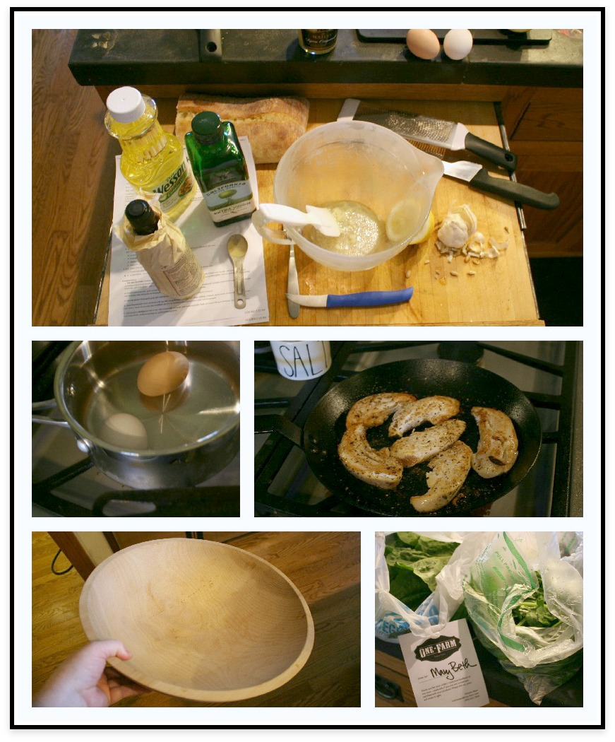 Prepping to make Caesar Salad Dressing