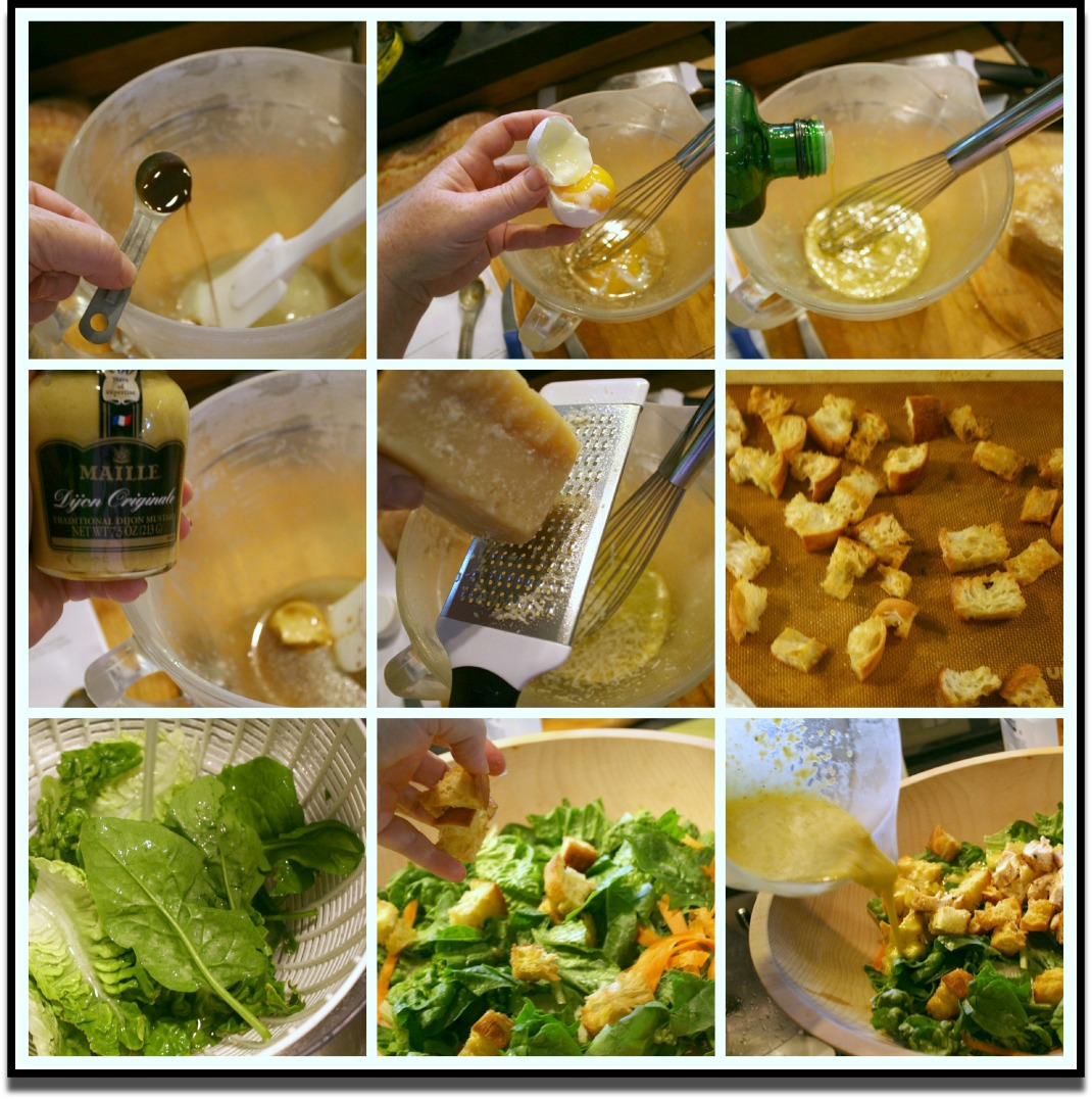 Many Caesar Salad Ingredients