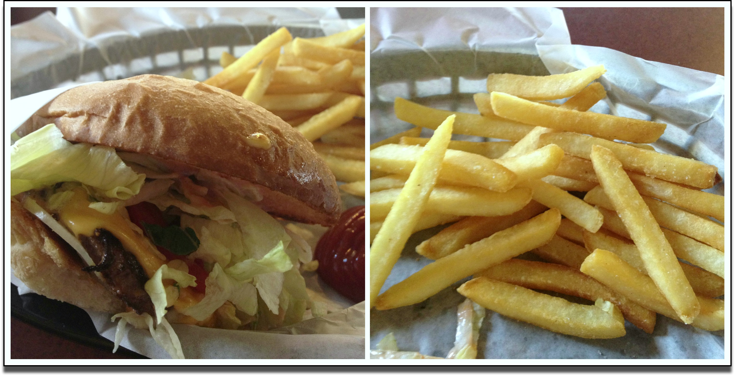 Dukes burger and Fries
