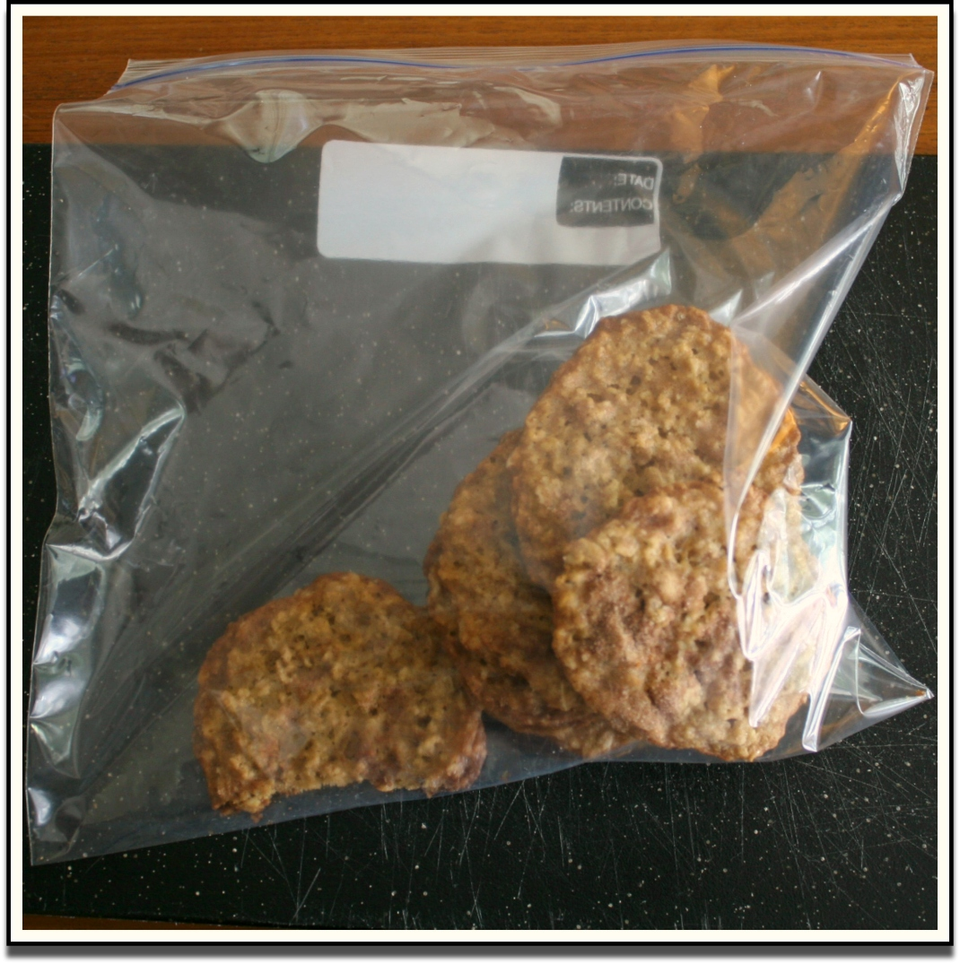 Oatmeal Cookies in a Bag