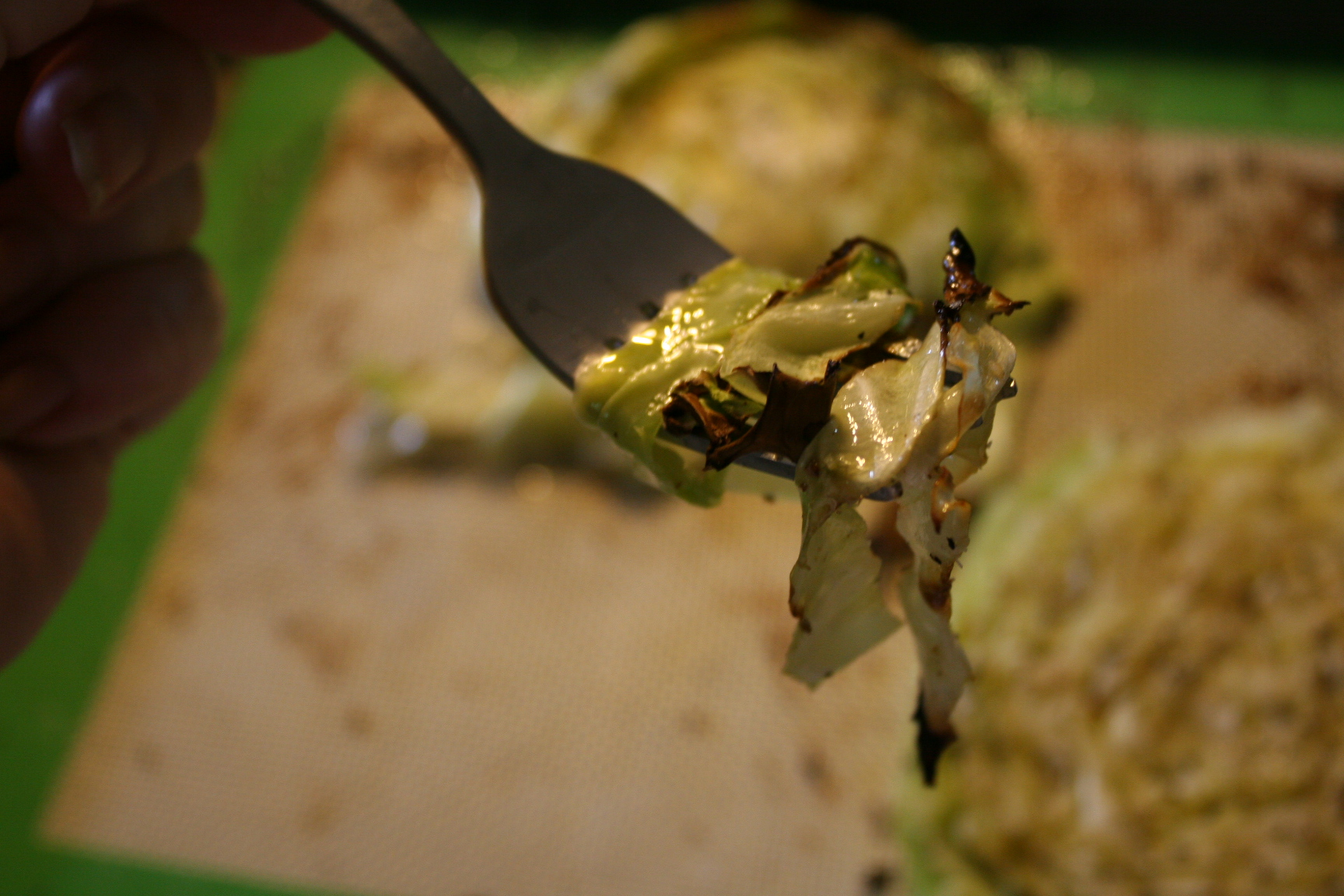 Roasted Cabbage on a Fork