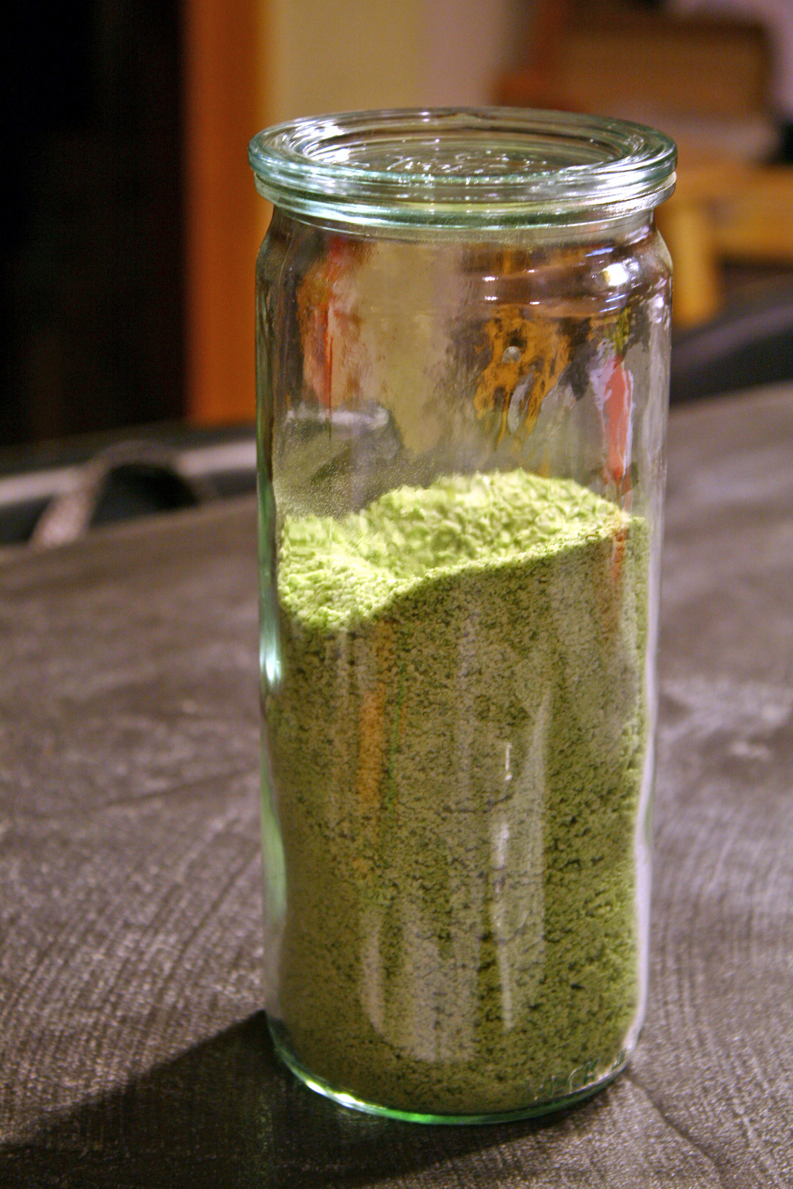 Basil Salt in a Weck Jar