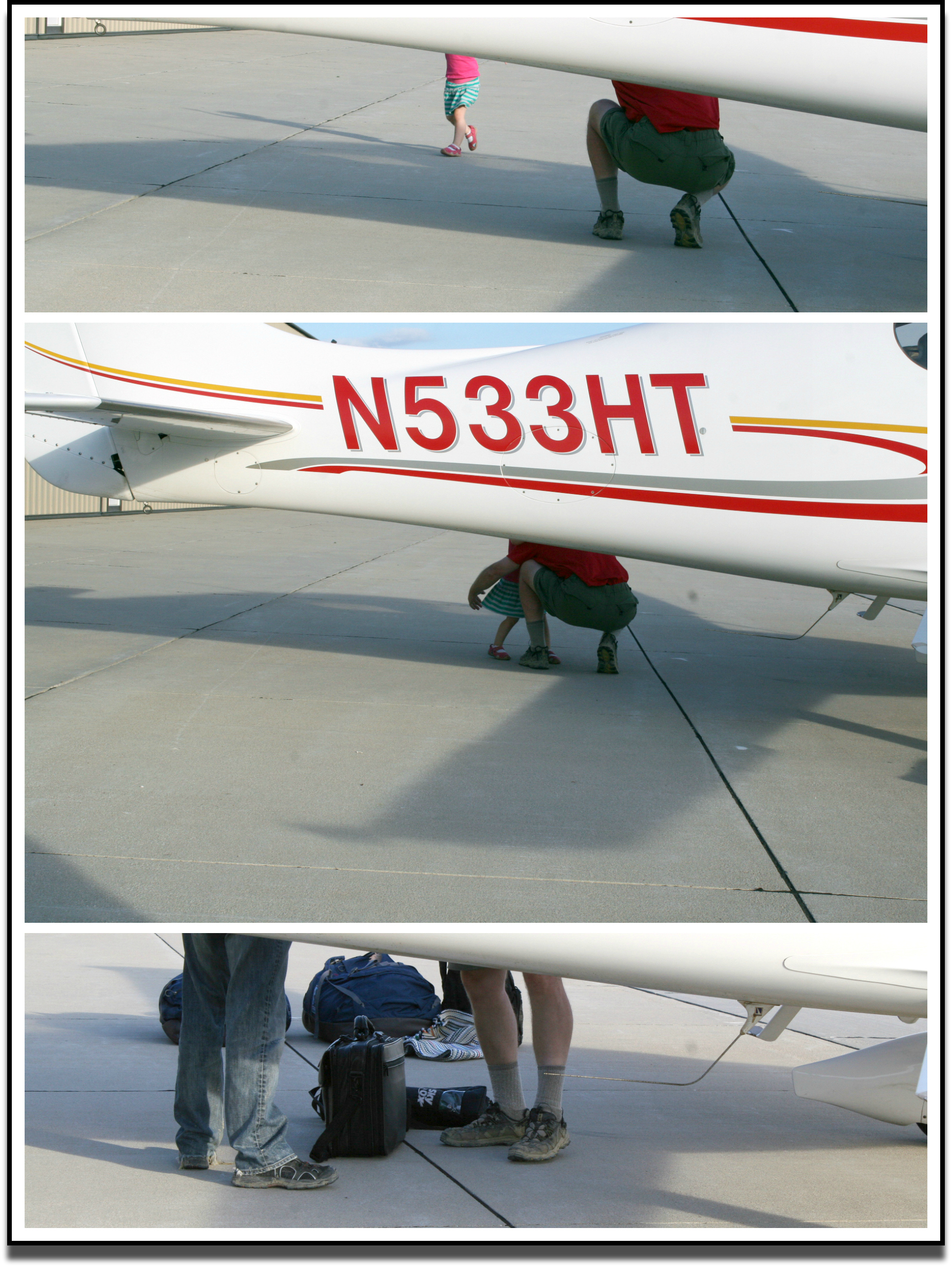 Legs Under Plane