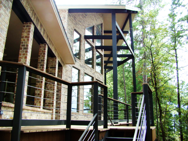 Linton Lake House rear Deck