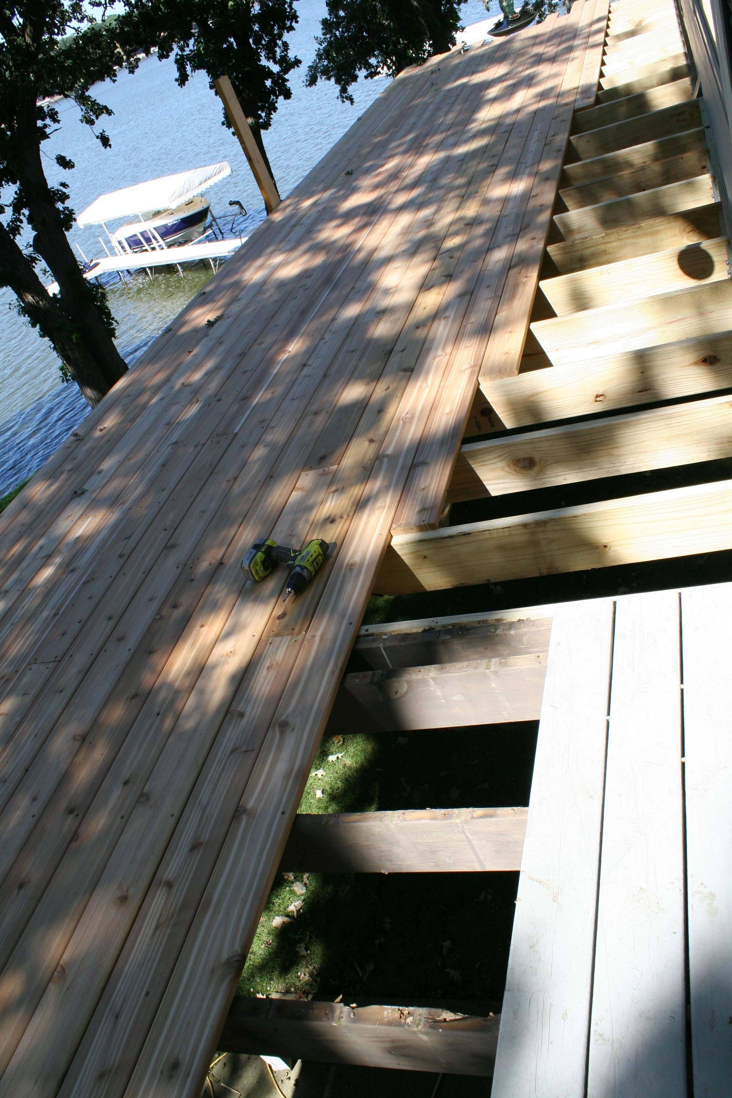 Cedar Decking