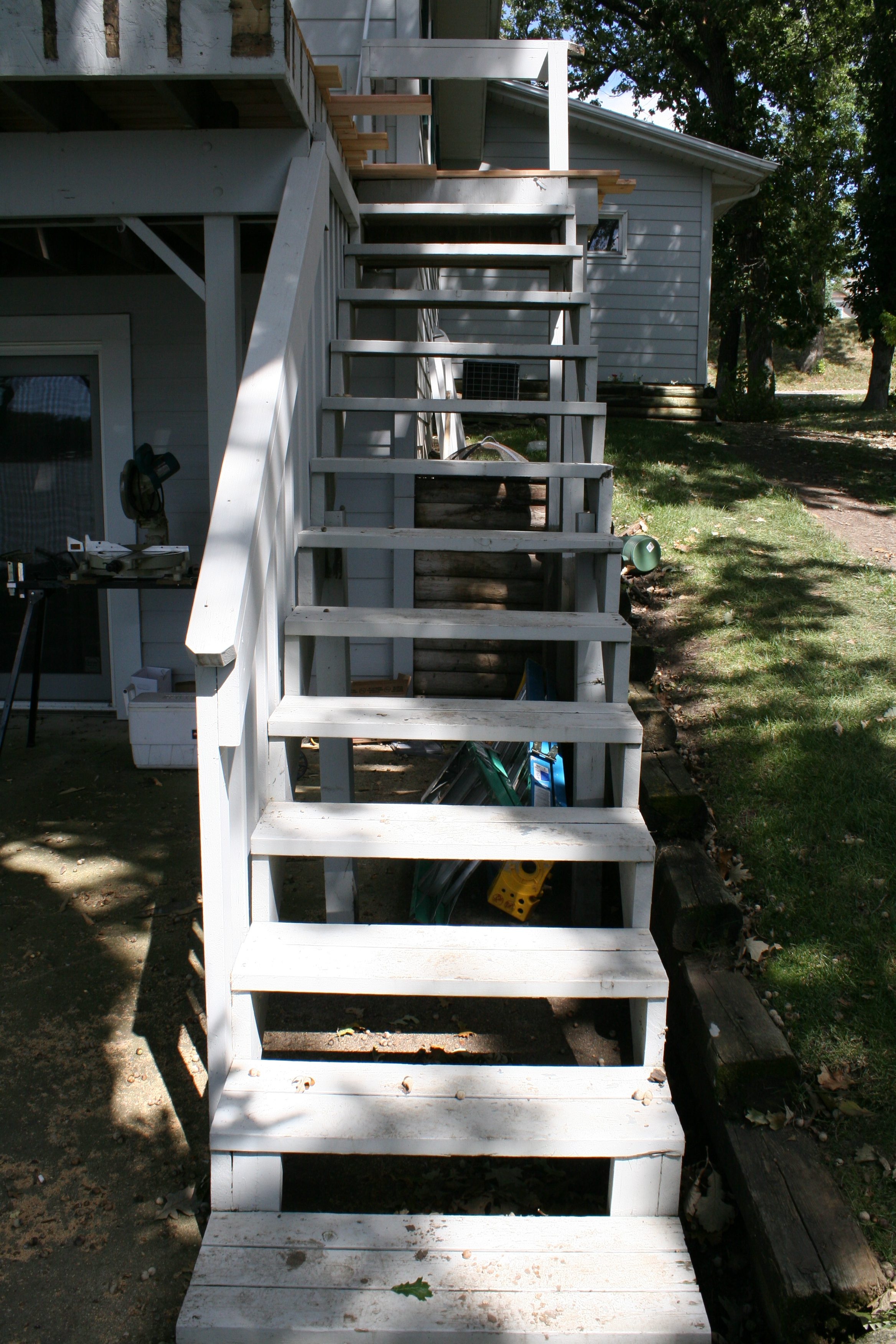 Stairs will be replaced Friday with Cedar and will be wider.