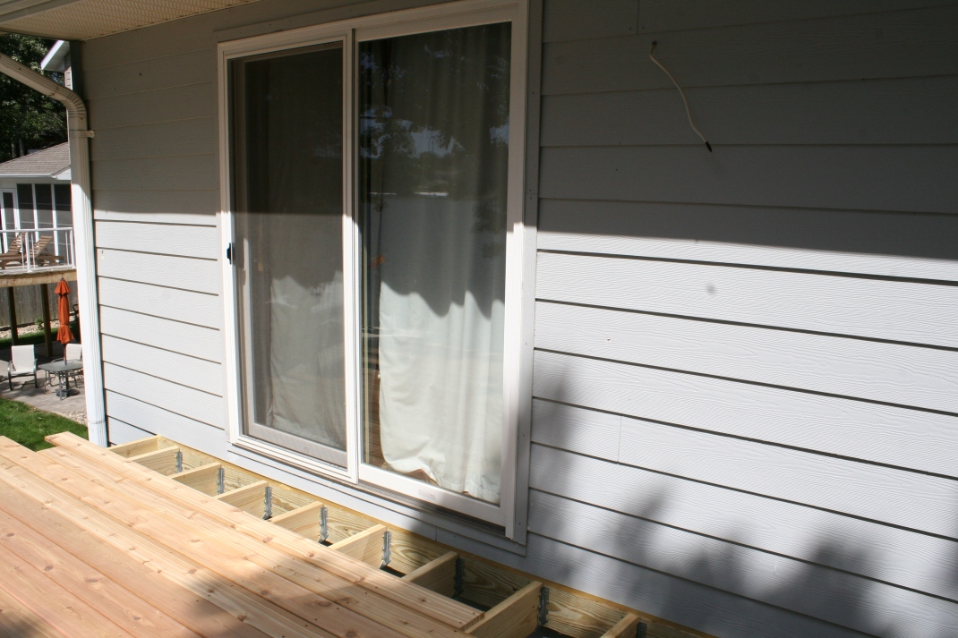 We installed this sliding door several years ago during a remodel. Our plan was to one day expand the deck!